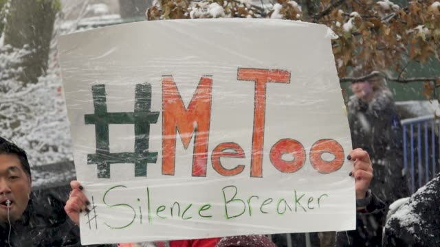 #MeTooNYC held the #MeToo Rally across the street from the Trump International Hotel Tower on Columbus Circle 59th Street in Midtown Manhattan NYC to...