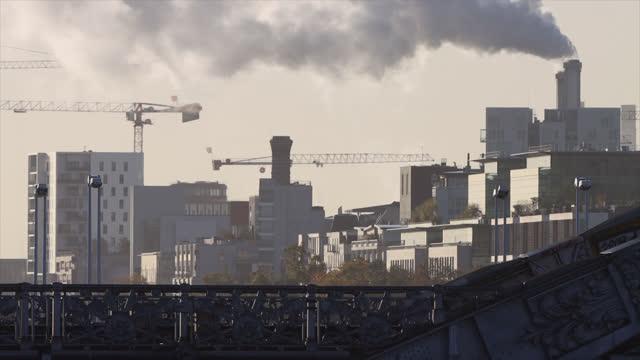 metro exterior in paris - air pollution stock videos & royalty-free footage