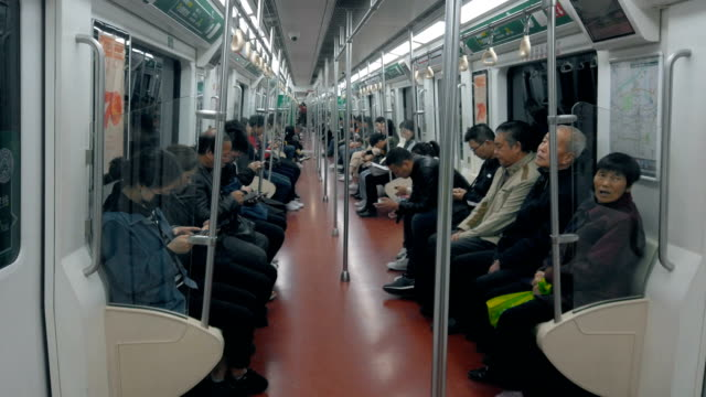 metro interior - passenger seat stock videos & royalty-free footage