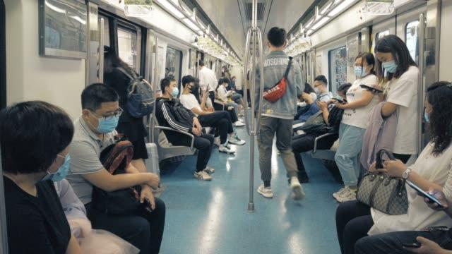 metro interior - beijing stock videos & royalty-free footage