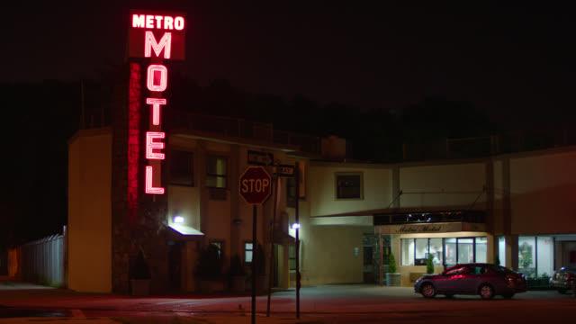 n/x metro motel, queens, new york w/activity - motel stock videos & royalty-free footage