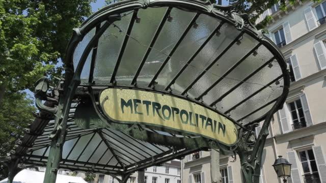 Metro Sign, Abbesses, Montmartre, Paris, France, Europe