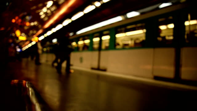metro station in paris - unrecognisable person stock videos and b-roll footage