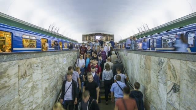 metro station, minsk, belarus - time lapse - belarus stock videos & royalty-free footage