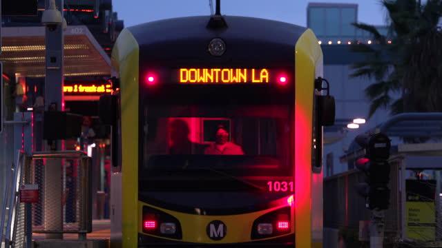metro to downtown la - santa monica stock videos & royalty-free footage