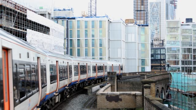 metro train overground in london, uk - land vehicle stock videos & royalty-free footage