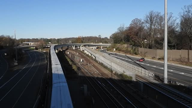 dc metro trains passing near falls church - falls church stock videos & royalty-free footage