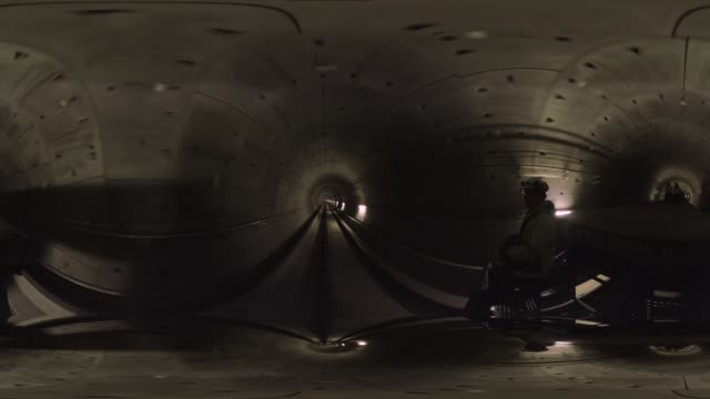 metro tunnel in amsterdam - monoscopic image stock videos & royalty-free footage