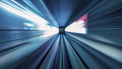 t/l 地下鉄トンネル - 内部点の映像素材/bロール