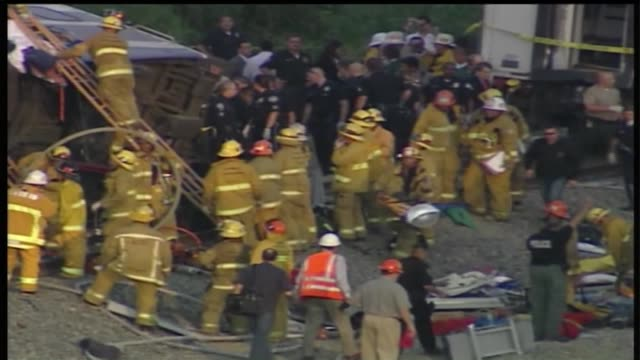Metrolink passenger train carrying 225 people collided with a Union Pacific freight train on a sharp curve in Chatsworth killing at least 17 people...