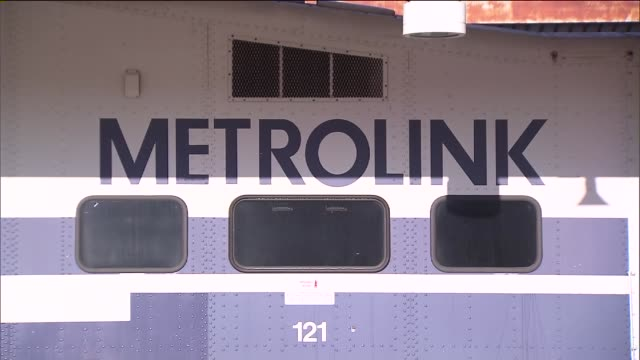 ktla metrolink trains at union station in downtown los angeles on march 5th 2015 - union station los angeles stock videos & royalty-free footage