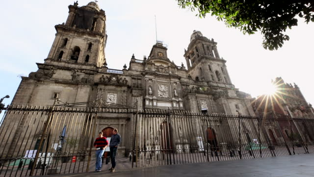 metropolitan cathedral establishing shot - spanish culture stock videos & royalty-free footage