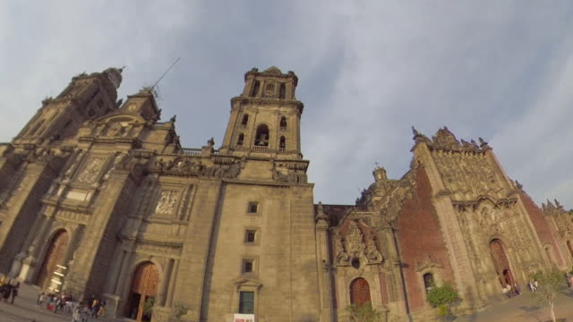 metropolitan cathedral mexico city - torre latinoamericana stock videos & royalty-free footage