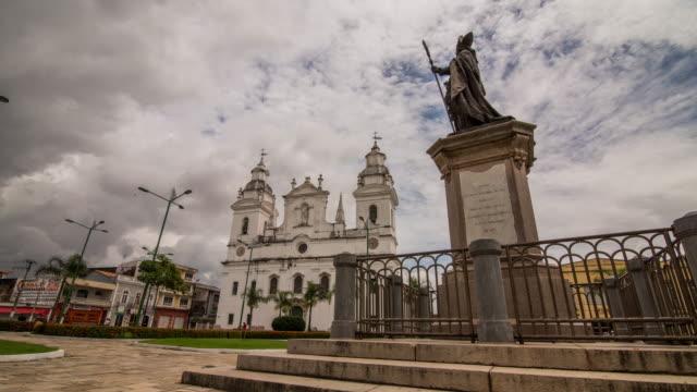 metropolitan cathedral of belem - belém brazil stock videos and b-roll footage