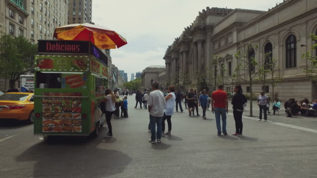 metropolitan museum of art met  in new york city - fifth avenue stock videos & royalty-free footage