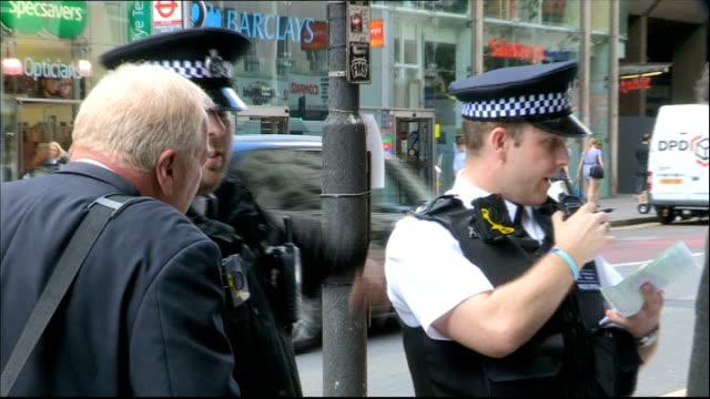 metropolitan police begin wearing 'body-worn video' cameras; england: london: kentish town: ext sir bernard hogan-howe interview sot close shot bwv... - kentish town stock videos & royalty-free footage