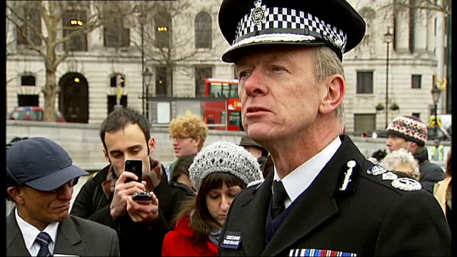 metropolitan police chief targets london gang members gvs launch of initiative bernard hoganhowe speech sot on people present at photocall includes... - police chief stock videos and b-roll footage