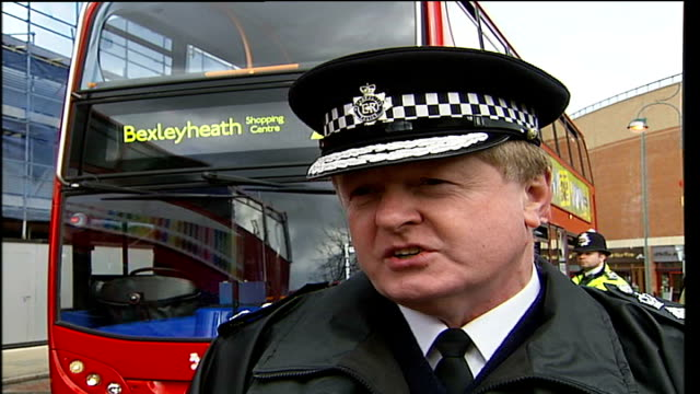 metropolitan police commissioner and mayor in bexleyheath sir ian blair interview sot this is not yet a dangerous city or a city out of control / i... - 警視庁点の映像素材/bロール