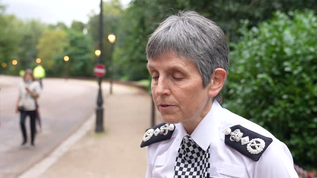 metropolitan police commissioner dame cressida dick announces the appointment of baroness casey of blackstock to lead the review of culture and... - battersea park stock videos & royalty-free footage
