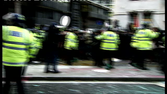deadline passes for applications tx england london ext riot police pushing back student protesters during student demonstrations over tuition fee... - fee stock videos and b-roll footage