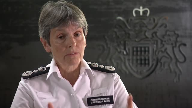 cressida dick interview; england: london: new scotland yard: int cressida dick interview sot. - the met is not free of racism or discrimination or... - patience stock videos & royalty-free footage