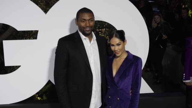 metta world peace and maya ford at the gq men of the year 2019 celebration on december 05 2019 in west hollywood california - mayan stock videos & royalty-free footage