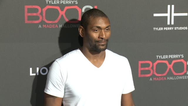 """Metta World Peace at Lionsgate Presents the Los Angeles Premiere of Tyler Perry's """"Boo 2 A Madea Halloween"""" in Los Angeles CA"""