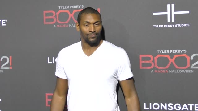 Metta World Peace at Lionsgate Presents The Los Angeles Premiere of Tyler Perry's 'Boo 2 A Madea Halloween' at LA LIVE on October 16 2017 in Los...