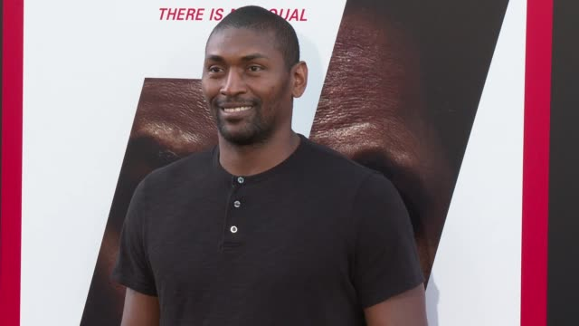 Metta World Peace at the 'The Equalizer 2' Premiere at TCL Chinese Theatre on July 17 2018 in Hollywood California