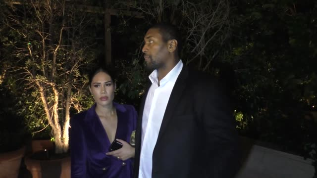 metta world peace maya ford talks about lebron james the lakers outside the gq man of the year party at the west hollywood edition in west hollywood... - mayan stock videos & royalty-free footage