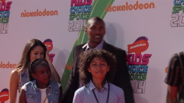 metta world peace nickelodeon kids' choice sports awards 2014 at pauley pavilion on july 17 2014 in los angeles california - nickelodeon stock videos & royalty-free footage