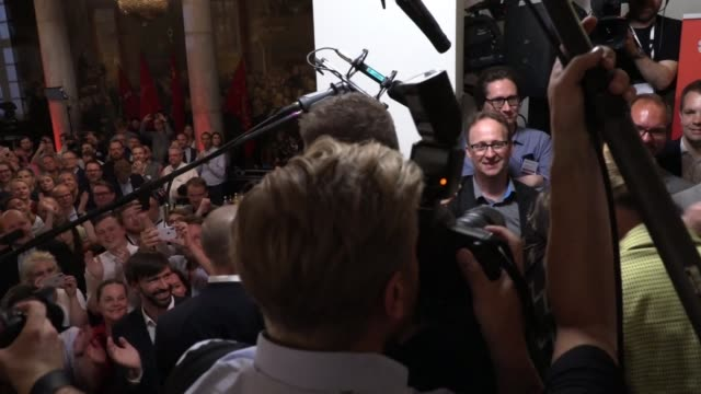 mette frederiksen the head of denmark's social democrats speaks to supporters in parliament after her party won the largest share of votes in the... - general election stock videos & royalty-free footage