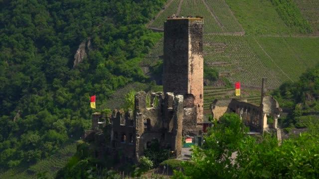 Metternich Castle ruin over Beilstein, Moselle Valley, Rhineland-Palatinate, Germany