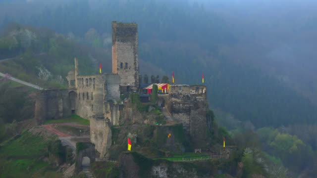 Metternich Castle Ruin over Beilstein, Moselle Valley, Rhineland-Palatinate, Germany