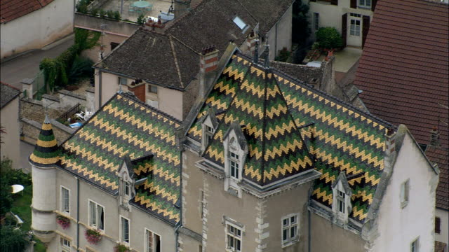 Meursault  - Aerial View - Bourgogne, Cote d'Or, Arrondissement de Beaune, France