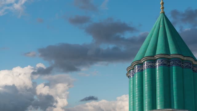 mevlana mosque - minaret stock videos & royalty-free footage