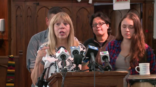 wgn mexican american church pastor says the trump campaign's hateful rhetoric is emboldening racists and partly to blame for repeated racist graffiti... - hakenkreuzfahne stock-videos und b-roll-filmmaterial
