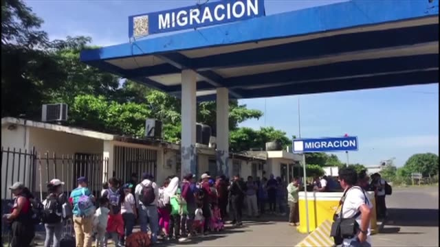 mexican authorities on the border between mexico and guatemala offer central american migrants the possibility of entering the country legally with... - mexican american stock videos & royalty-free footage