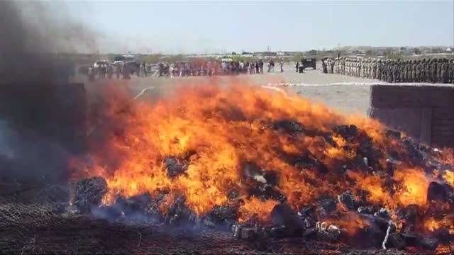 mexican authorities staged a burning in the northern city of juarez on tuesday of drugs seized in operations against organized crime. juarez,... - northern mexico stock videos & royalty-free footage