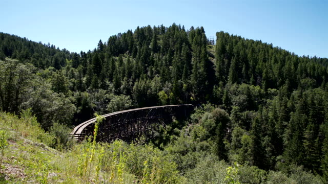 mexican canyon railroad trestle, cloudcroft, nm - new mexico stock videos & royalty-free footage
