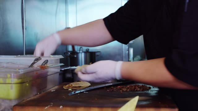 mexican chef making tacos - mexican food stock videos & royalty-free footage