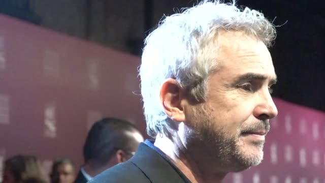 mexican director alfonso cuaron condemns the racism surrounding the caravan of thousands of central american migrants making their way through mexico... - morelia video stock e b–roll