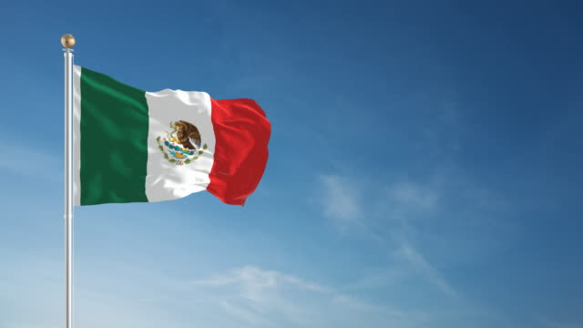 4k mexican flag - loopable - pole stock videos & royalty-free footage
