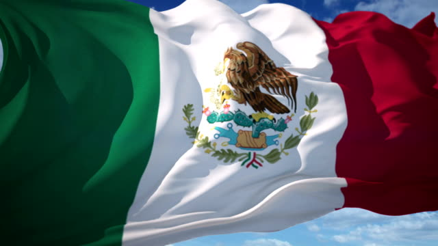 mexican flag - mexico stock videos & royalty-free footage