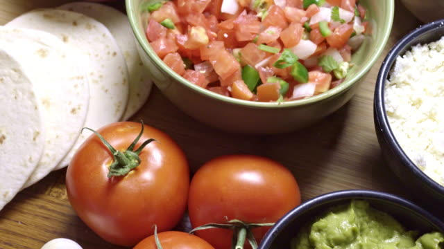 mexican food ingredients - sour cream stock videos & royalty-free footage