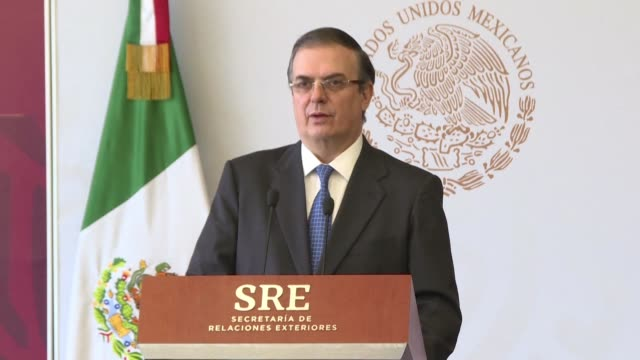 mexican foreign minister marcelo ebrard confirms that 107 mexicans were detained during the migration raids at food processing plants in the... - foreign minister stock videos and b-roll footage