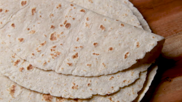mexican home made flour tortillas from above - home made stock videos & royalty-free footage