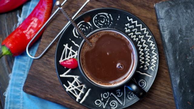 メキシコのホット チョコレート - モカ点の映像素材/bロール