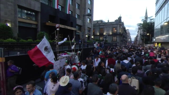 mexican independence festivity el grito in the zocalo - latin america stock videos & royalty-free footage