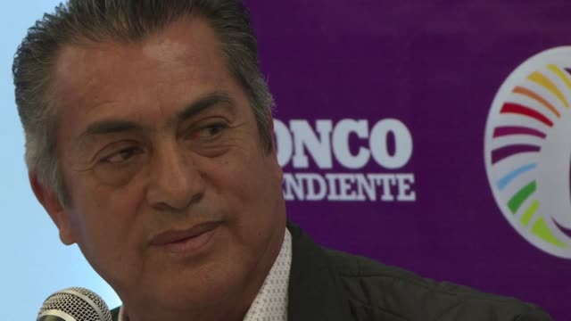 Mexican independent presidential hopeful Jaime Rodriguez Calderon known as El Bronco officially launches his campaign in Mexico
